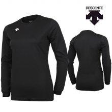 데상트 여성 긴팔 티셔츠 S8311WTL02-블랙 _90M