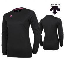데상트 여성 긴팔 티셔츠 S8311WTL02-블랙+핑크 _90M