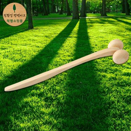 얼굴 마사지 겸 지압기/100% 편백나무