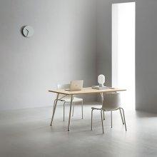 4인 빌트인콘센트 식탁 세트 (의자포함) 화이트+화이트