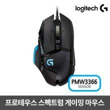 게이밍마우스 G502 RGB PROTEUS SPECTRUM PMW3366 센서 [로지텍코리아정품]
