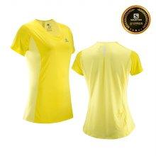 살로몬 어자일 헤더 티셔츠 W Blazing Yellow L40215600_S