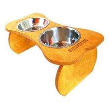 뼈다귀 2구 반려견 식기(소)애견식기 강아지밥그릇 W1B61D7