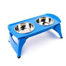 슈퍼 더블 폴더 보울 M (블루) 애완용품 애완식기 W21E564