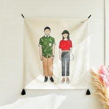 영 커플 패브릭 포스터 / 가리개커튼