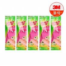 황토숯 일반형 고무장갑(소) 5개세트