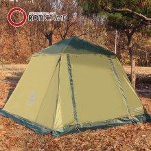 사각 텐트 4인 전용 방한커버 네츄럴그린