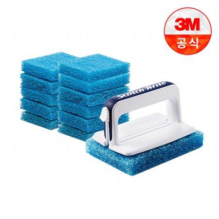 크린스틱 뉴올인원 욕실청소용 핸들+리필12입