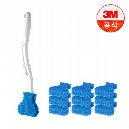 크린스틱 변기청소 핸들+리필 10입