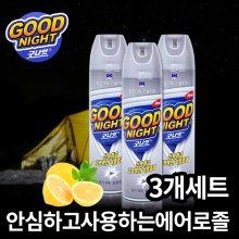 굿나잇 에어로졸/파리모기살충제_레몬향 400ml 3개세트