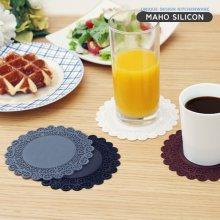 실리콘 레이스 컵받침_대 11.7cm 블랙
