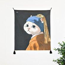 명화 고양이 패브릭 포스터 / 가리개커튼