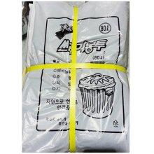 실속형 쓰레기봉투(검정 80L 50매)1세트