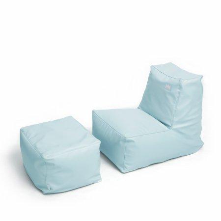 팝콘빈백 스툴포함(PU) 블루