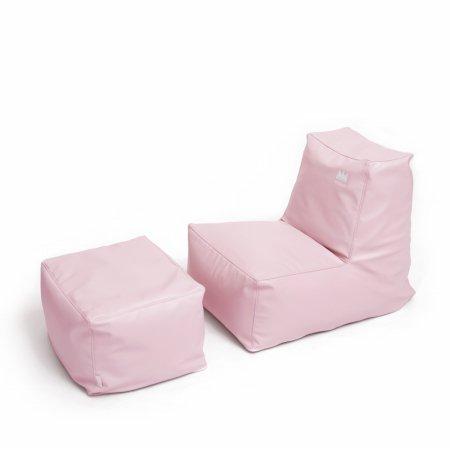 팝콘빈백 스툴포함(PU) 핑크