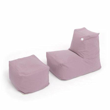 팝콘빈백+스툴(패브릭) 핑크