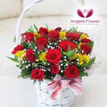 장미한가득 고급형 꽃바구니 전국꽃배달