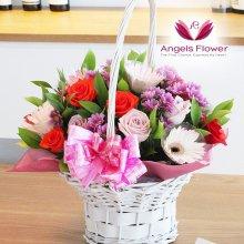 러브러브 고급형 꽃바구니 전국꽃배달