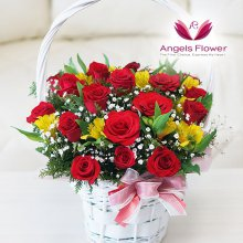 장미한가득 일반형 꽃바구니 전국꽃배달