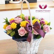 러블리핑크 일반형 꽃바구니 전국꽃배달