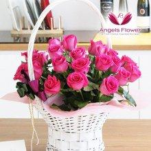 핑크홀릭 고급형 꽃바구니 전국꽃배달