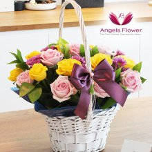 러블리핑크 고급형 꽃바구니 전국꽃배달