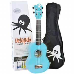 Octopus 콘서트 우쿨렐레 - Solid Sky Blue