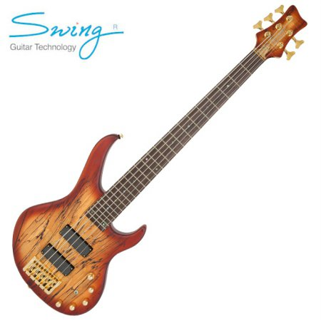Swing Majesty 5 Spalted / 스윙 마제스티 5현 베이스 (Tobacco)