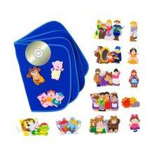 인기동화 CD+손가락 인형 7종+융판책 세트_W1EEC38