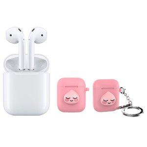 에어팟 Air Pods [애플정품] + 에어팟 키링 케이스 어피치 [핑크]
