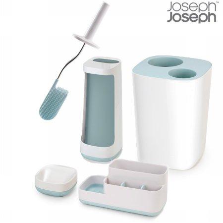 바스 4종 세트(바스룸캐디+비누받침+휴지통+화장실브러쉬)