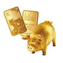 (어메이징) 한국금거래소 황금돼지 골드바 3.75g
