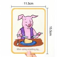 인성교육 영어학습 카드 왓두아이두 what do I do