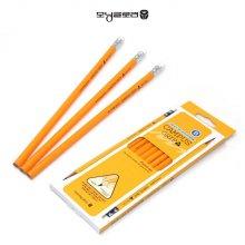 모닝글로리 캠퍼스 삼각그립 연필 (B) 12자루_W1FFAD8