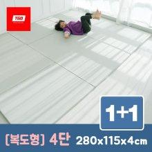 팡팡 폴더매트 (복도형 4단) 1+1 06_(복도형) 4단_크림 1+1