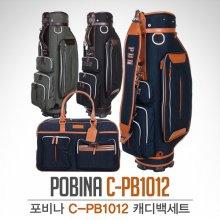 [2018년신제품-국내산]포비나 골프 C-PB1012 페브릭원단 캐디백 보스톤백세트 블랙