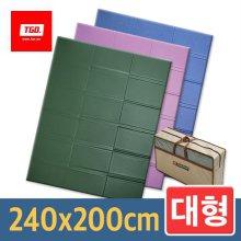 티지오 캠핑매트 (대형_무지) 240x200cm 14_[뉴대형] 카키