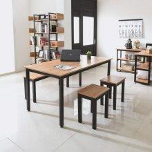 2 in 1 멀티테이블 책상에서 식탁까지 1206블랙프레임/아카시아