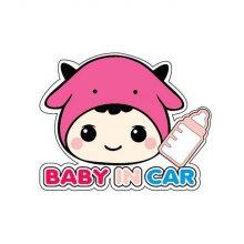 BABY IN CAR 여(칼라)/150X120 (스티커)_W0325DB