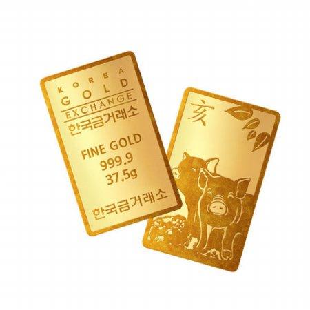 (어메이징) 한국금거래소 황금돼지 골드바 37.5g