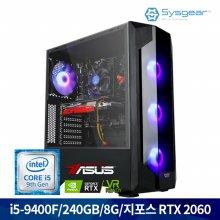 인텔 코어 i5 9400F/RTX 2060/8G+240G 게이밍 PC GT946R