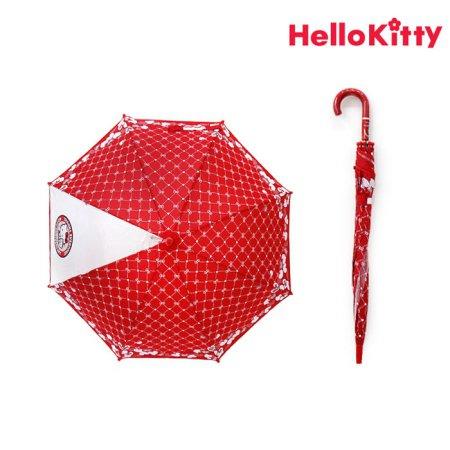 헬로키티 53 리본하트 장우산 DHK10004 레드