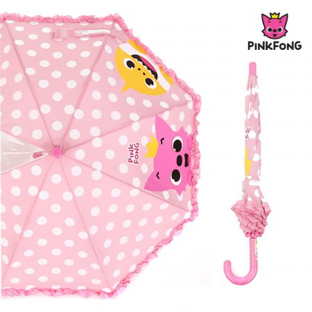 핑크퐁 40 핑크얼굴 장우산 GUPFU10003 핑크