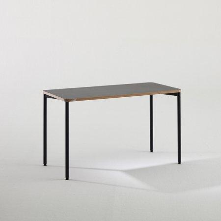 일자형 책상 BDB112 (1200X600) 다크우드:블랙