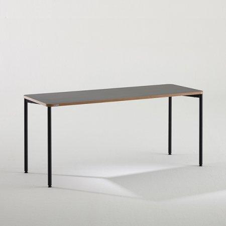 일자형 책상 BDB116 (1600X600) 다크우드:블랙