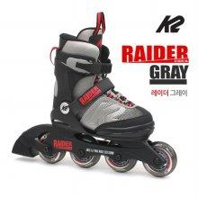 K2 정품 19년 레이더그레이 5단계조절 아동용 인라인 _레이더그레이 M 195mm-230mm