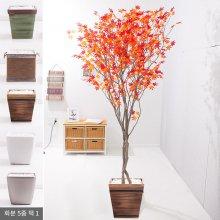 라인-홍단풍나무화분set 240cm (조화) FREOFT 벽면형:빈티지마야우드화분(28cm) 5-5
