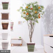 라인-석류나무화분set 240cm (조화) FREOFT 벽면형:빈티지마야우드화분(28cm) 5-5