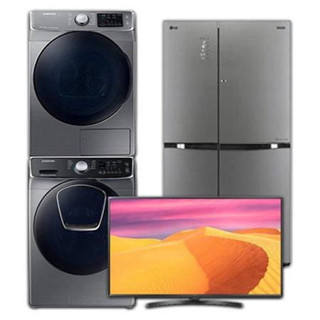 [이사혼수 패키지] UHDTV(스탠드형):65UK6850BNF(163cm) + 양문형냉장고:S831TS35(821L) + 드럼세탁기:WF23N9951KP(23KG) + 건조기:DV16R8540KP(16KG)