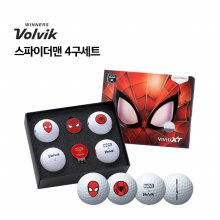 [볼빅] VOLVIK 정품 VAGS 마블 스파이더맨 골프볼 골프공 필드용품 스파이더맨 4구세트